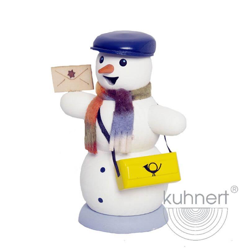 Schneemann als Briefträger Räuchermännchen 35019