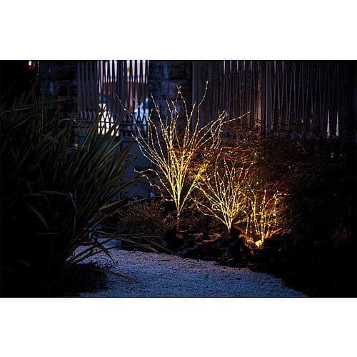 LED Zweig weiss 220 warmweiss LEDs Lotti 45040