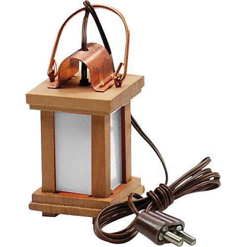 LED-Holzlaterne für Krippenbeleuchtung