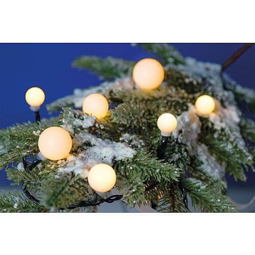 LED-Kugellichterkette für aussen mit 40 LEDs warmweiß