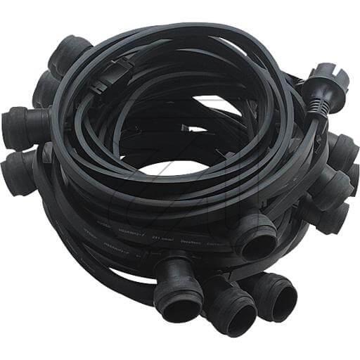 Illu Partylichterkette 20x E27 schwarz 10m