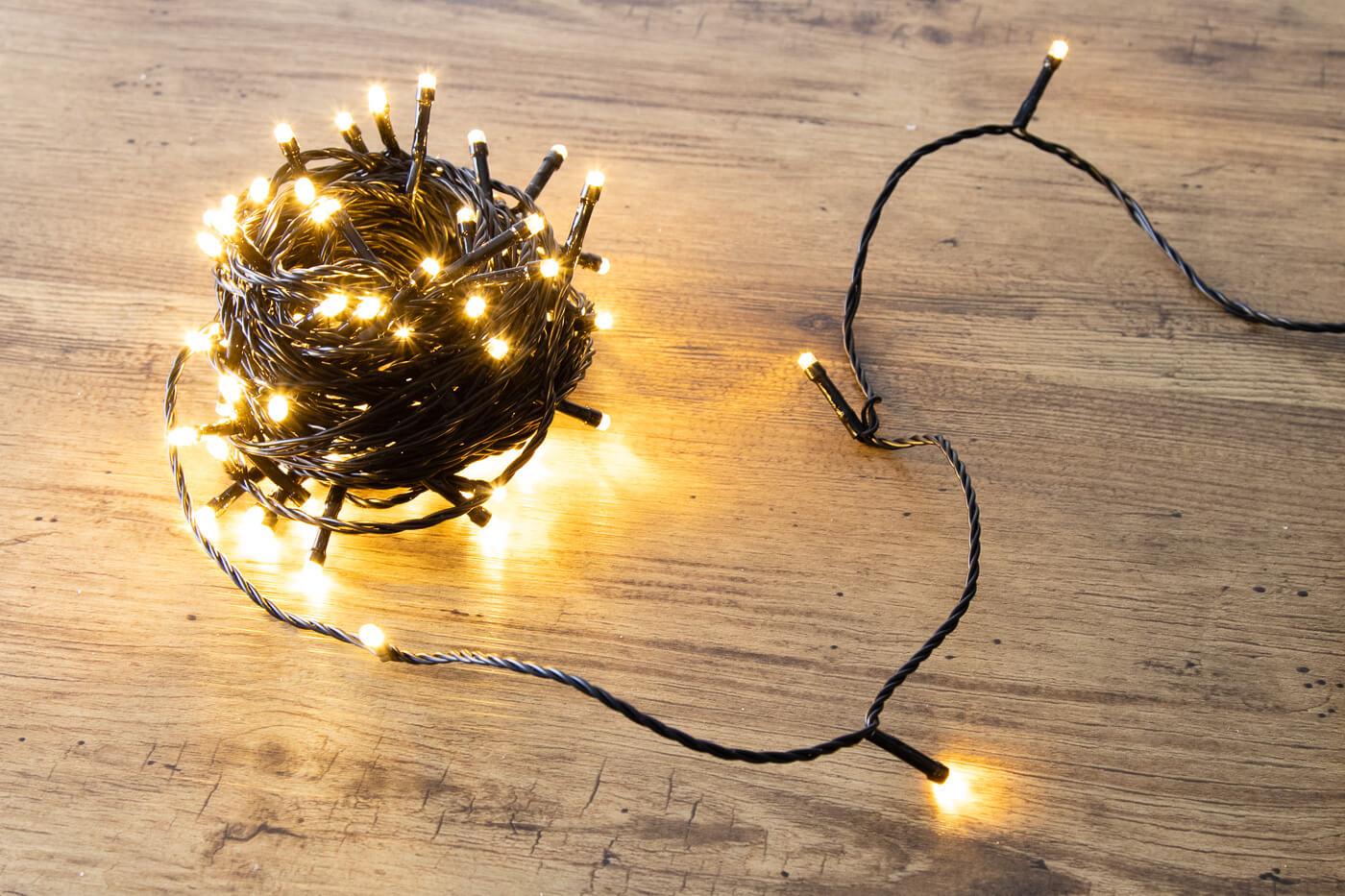 LED-Aussenminilichterkette 80 LEDs warmweiß