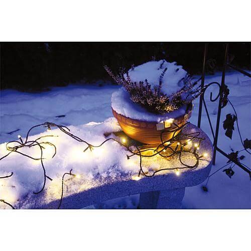 LED-Minilichterkette 40 LEDs warmweiß