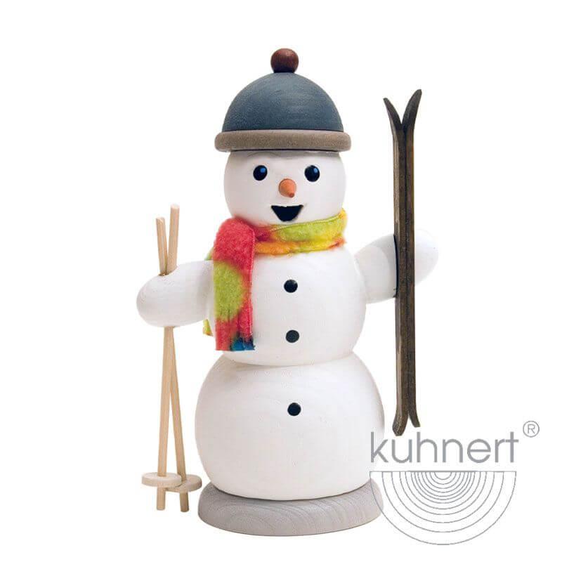 Schneemann mit Skiern Räuchermännchen 35006