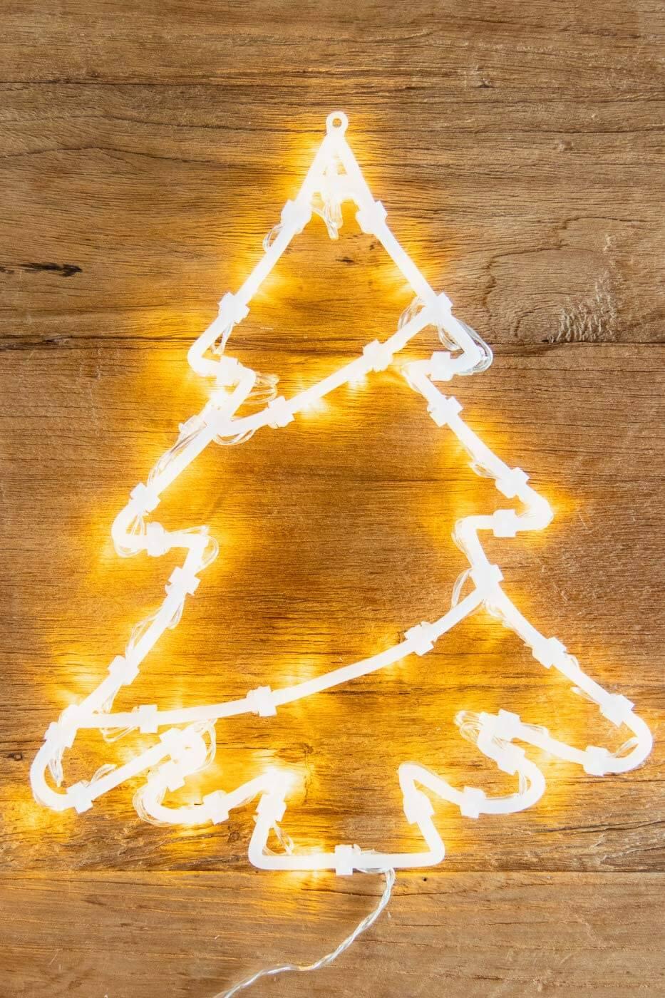LED Fenster-Silhouette Weihnachtsbaum