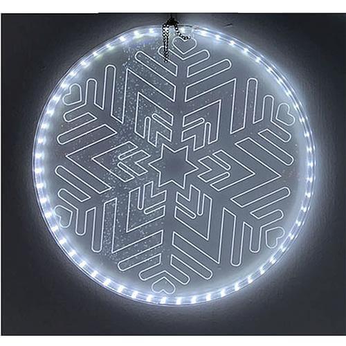 LED-Acrylscheibe Schneeflocke 44616-2
