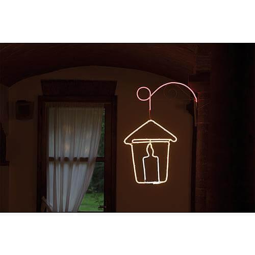 LED Silhouette Laterne mit Kerze 54813