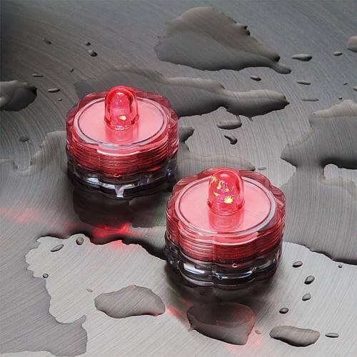 Außen-Teelichter IP68 2er-Set rot 06812