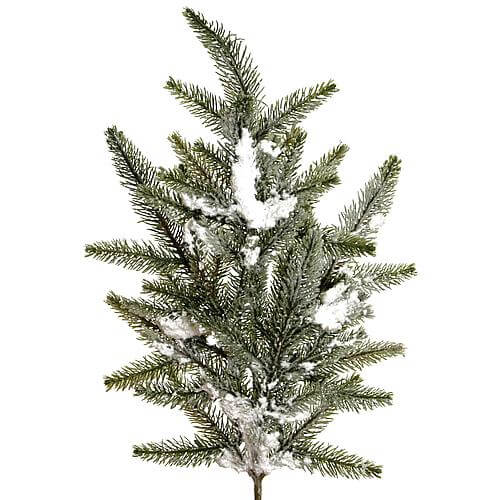 Tannenzweig mit Schnee 55cm grün 18722 17