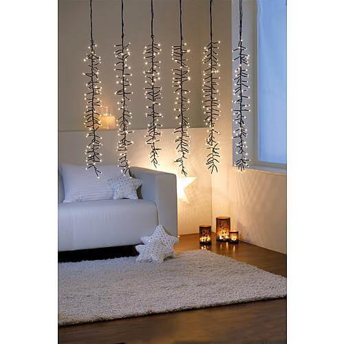 LED Cluster-Lichtervorhang 480 ww LED 63839