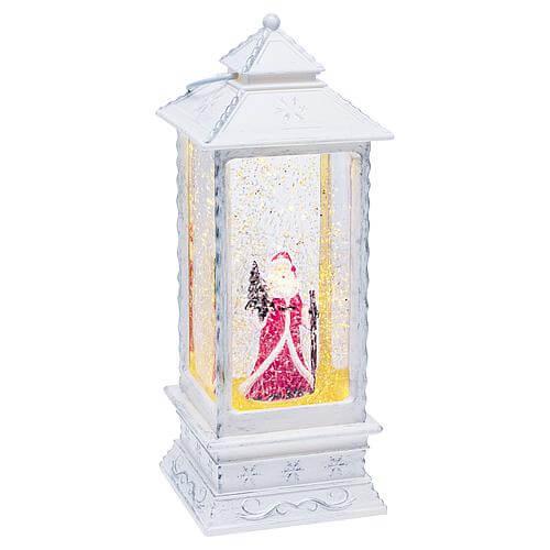 LED-Schneelaterne Weihnachtsmann viereckig 59863