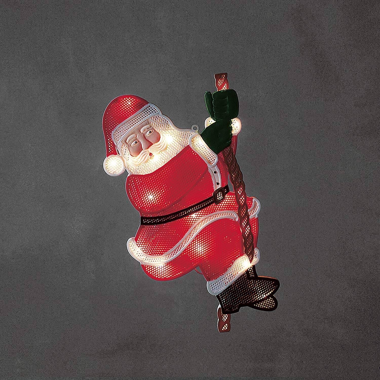 LED Fenstersilhouette Kletternder Weihnachtsmann 2856-010