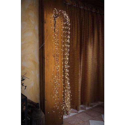 Weidenzweige 800 warmweisse LED braun 55032