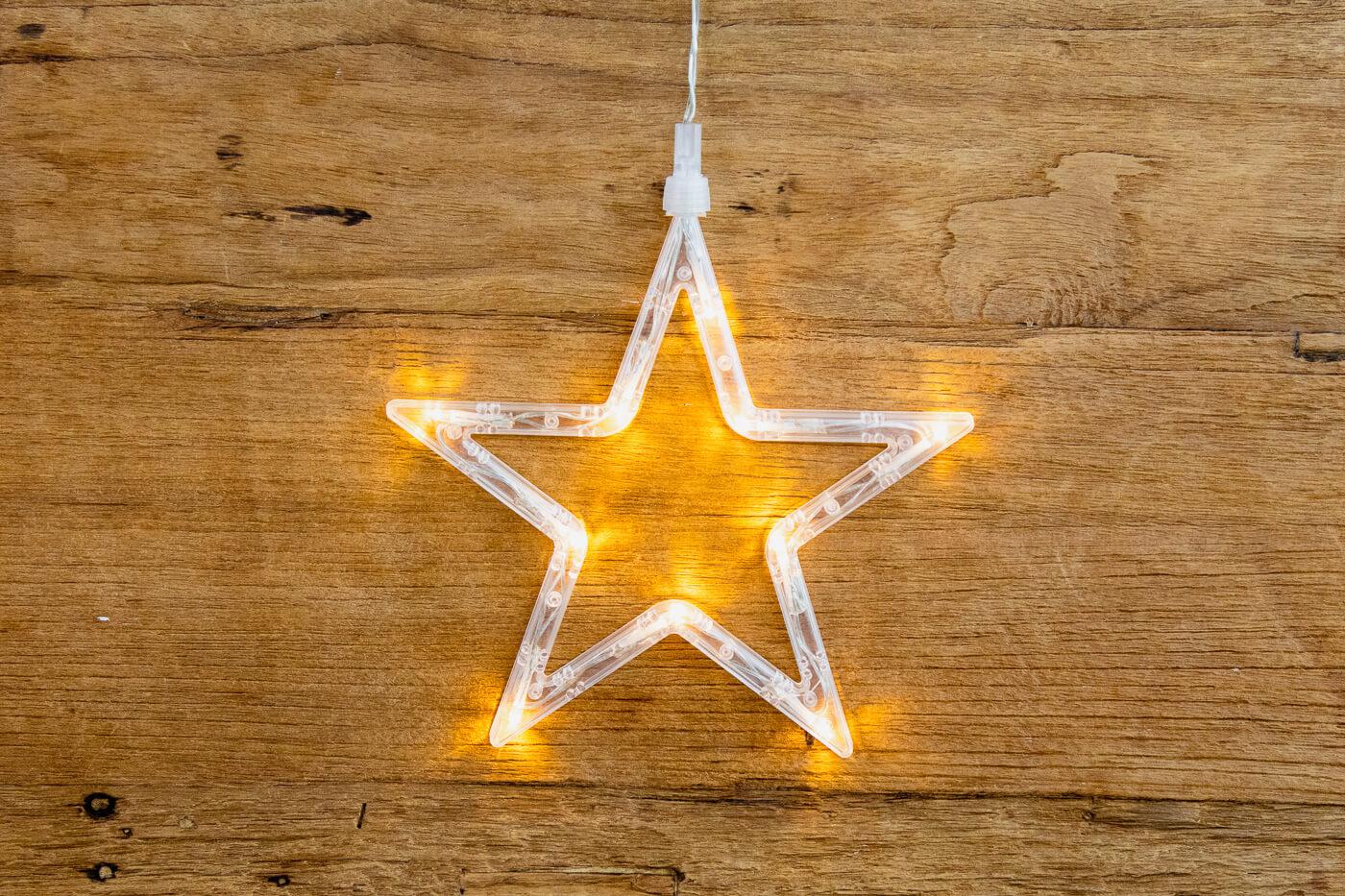 Fensterbild Stern mit 10 LED
