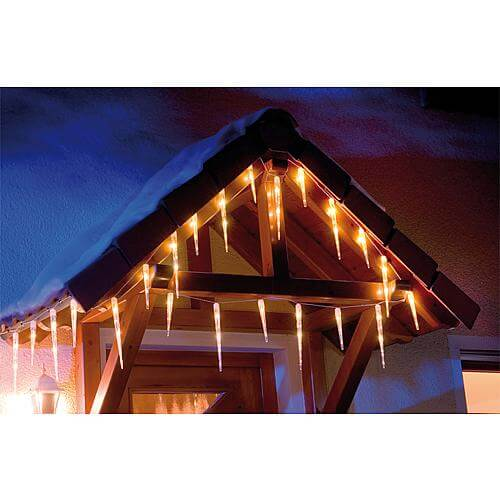 LED Eiszapfen-Kette 32 Zapfen warmweis LED Konstsmide 2736-102