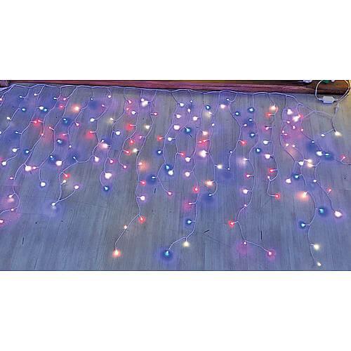 RGB LED Eisregenlichterkette 'Wonder' Verlängerung 175 LED 63808