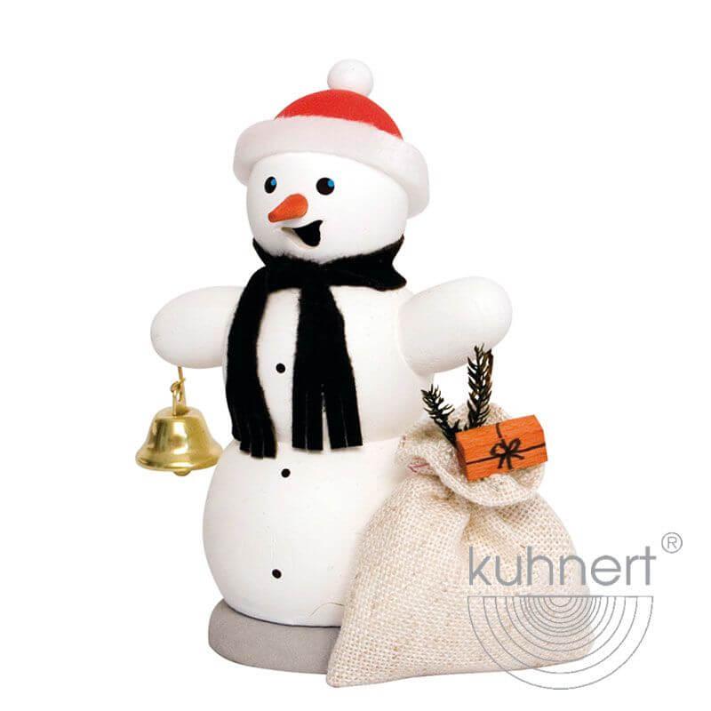 Schneemann mit Geschenkesack Räuchermännchen 35010
