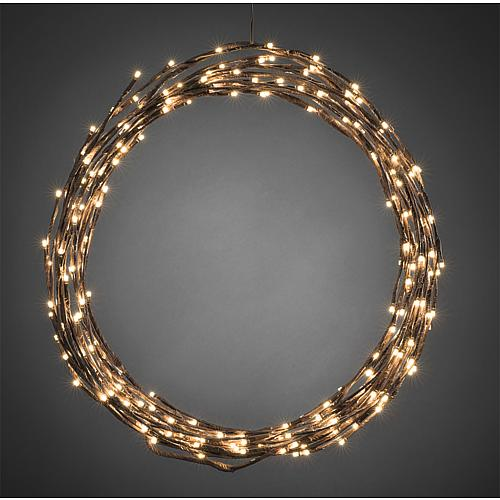 LED-Lichterkranz 240 LEDs Ø 46cm braun Konstsmide 3365-600