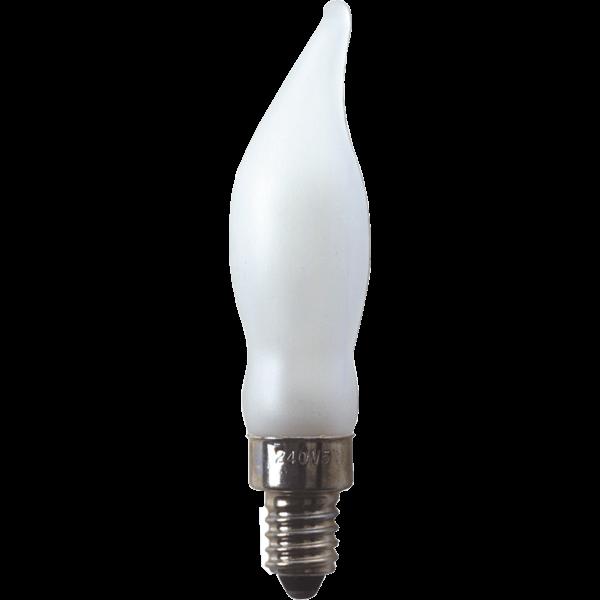 Windstoßkerzenlampe 362-58 240V/5W E10 matt