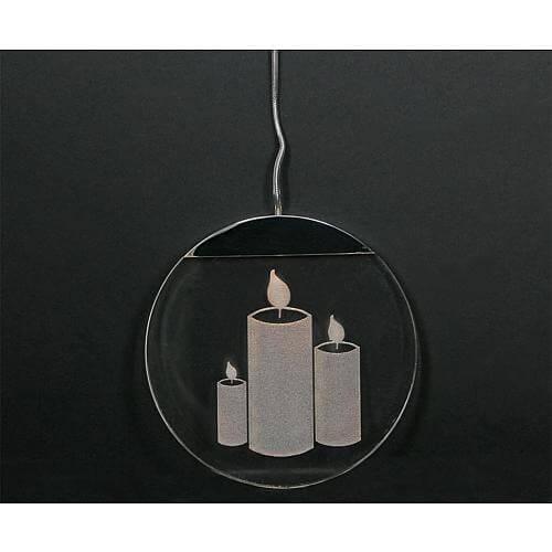LED Acrylglastaler 'Kerzen' 76102