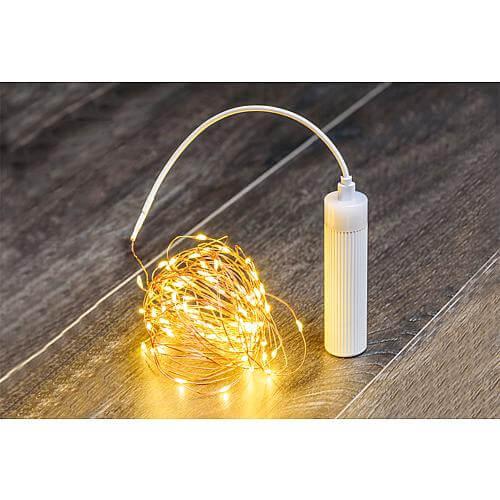 LED Micro-Lichterkette 100 warmweisse LED 59436