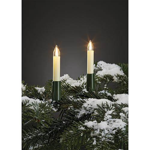 20-tlg. LED-Filament Schaftkerzenkette außen Hellum 845556