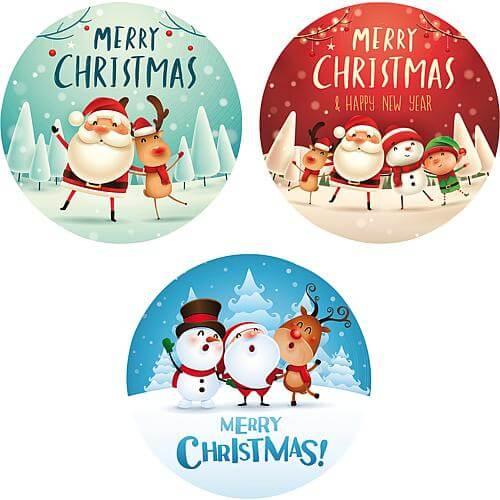 Gobo 3er-Set Merry Christmas mit Figuren Lotti 46085