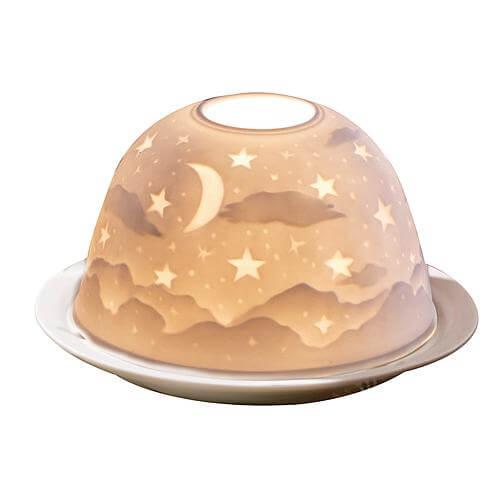 Porzellan-Windlicht Dome-Light Sternenhimmel