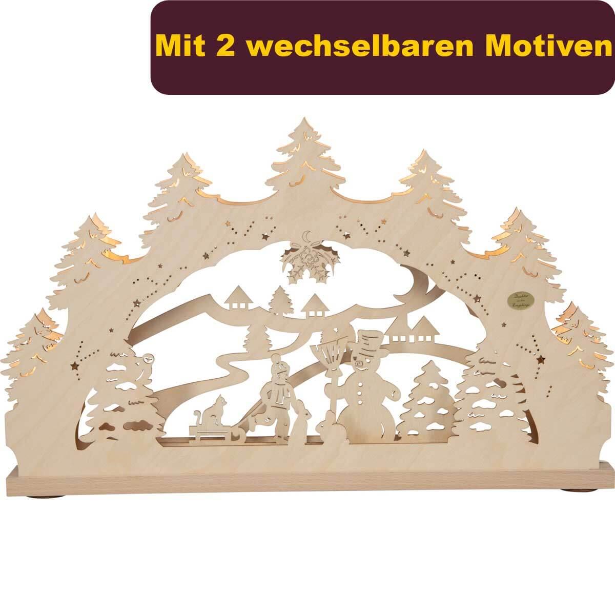 Lichterbogen mit Wechselmotiv 'Winterwald' LB1961