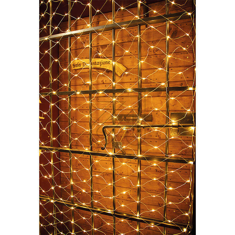 LED-Lichternetz 'Professional' 273 flg. bernsteinfarben Lotti 55155