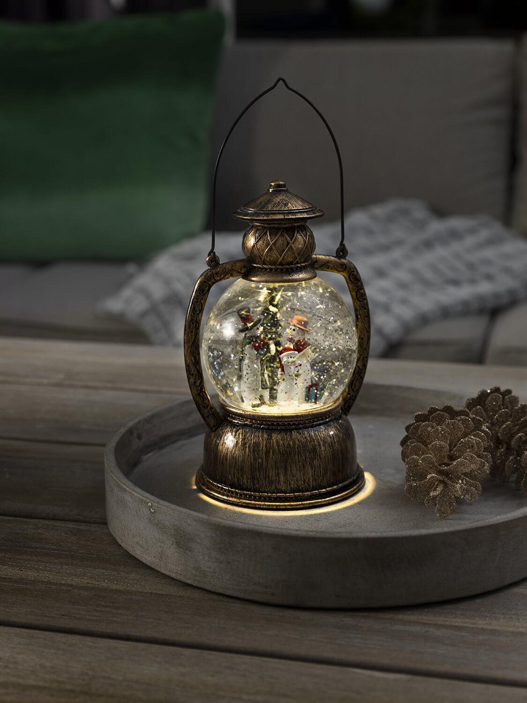 LED-Kugellaterne mit Schneemannfamilie Konstsmide 3498-000
