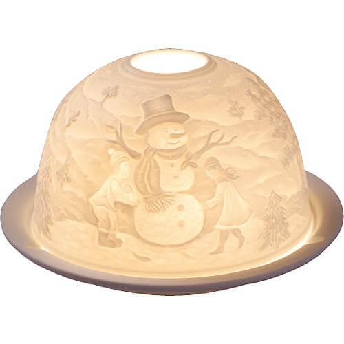 Porzellan-Windlicht Dome-Light Weihnachtsmann
