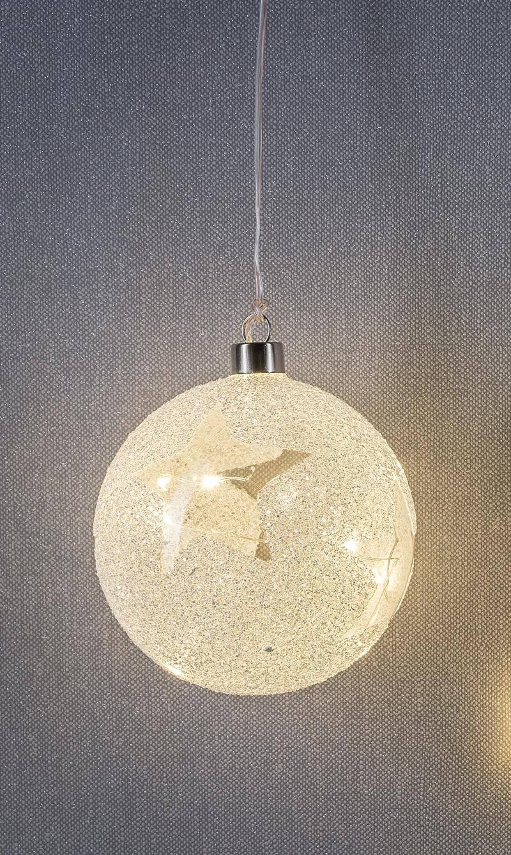 LED-Glashänger Kugel 10 LEDs warmweiß Ø 12cm
