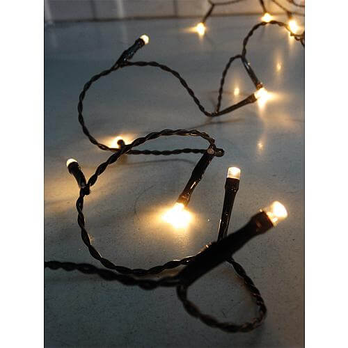 LED-Microlichterkette 180 LEDs warmweiß