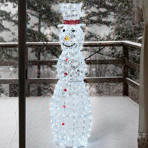 Weihnachtsdeko für aussen Schneemann 150cm mit LED Beleuchtung 69190