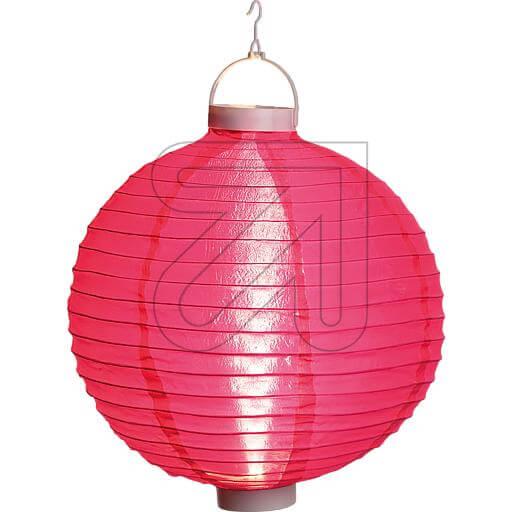 pinker LED Lampion 40cm mit warmweissen LEDs beleuchtet 38936