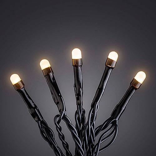 Micro LED-Lichterkette gefrostet 40 flg. bernst. 3810-800