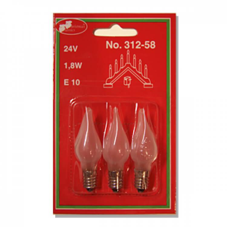 Windstoßkerze 312-58 24V/1,8W E10 3er Set