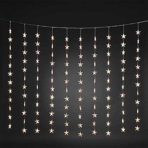 LED Lichtervorhang mit Sternen 120 ww LED 3703-103