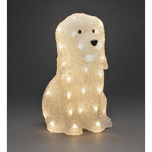 LED Acryl Hund 40 ww LED außen 6299-103