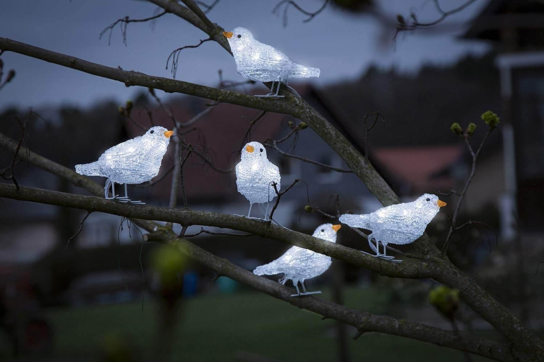 LED-Acryl-Vögel 40 LEDs 16x10cm weiß Konstsmide 6144-203