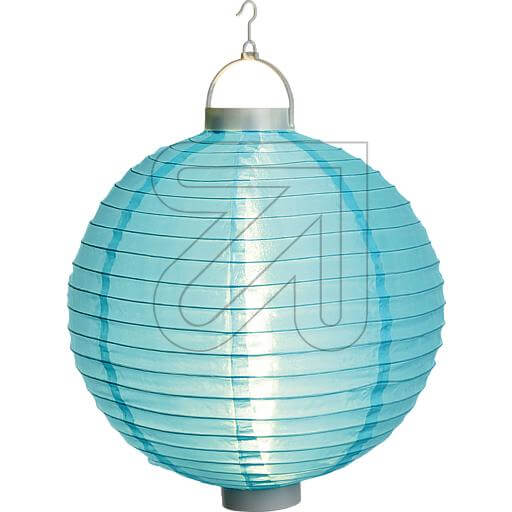 blauer LED Lampion 40cm mit warmweissen LEDs beleuchtet 38912