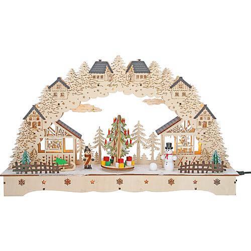 LED Lichterbogen mit Weihnachtsbaum Saico CLB02-1003